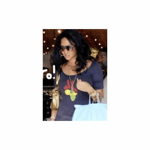Kimora Lee in Brokedown Burnout Tee