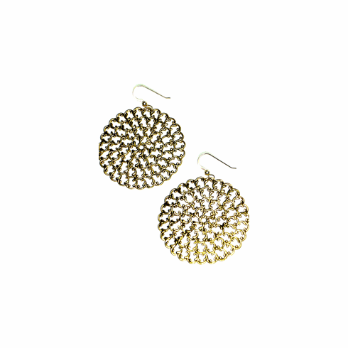 Kipepeo Antique Gold Roundel Earrings *SOLD OUT*