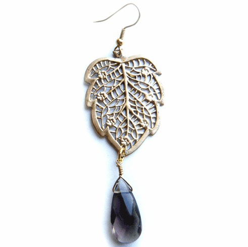 Kipepeo Filigree Leaf Drop Earrings