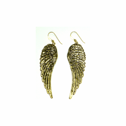 Kipepeo Gold Angel Wing Earrings