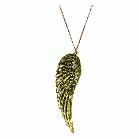 Kipepeo Gold Angel Wing Pendant
