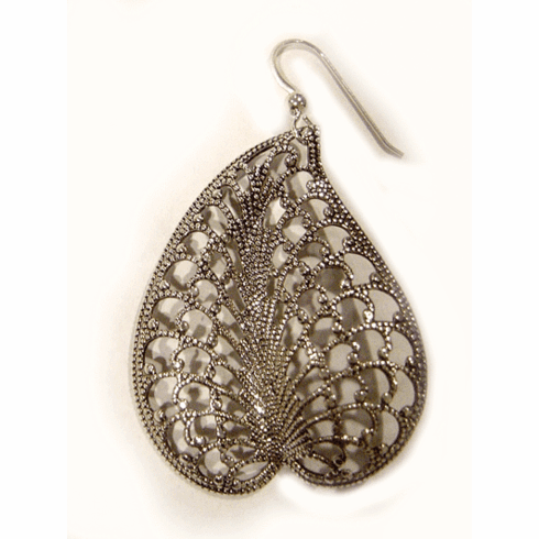 Kipepeo Silver Coco De Mer Earrings