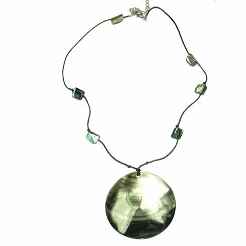 Lydell NYC Abalone Shell Necklace