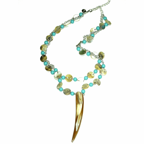 Lydell NYC Shell Drop Necklace
