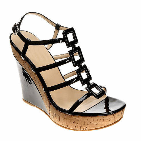 oh...DEER! Alicia Wedge Sandal in Black