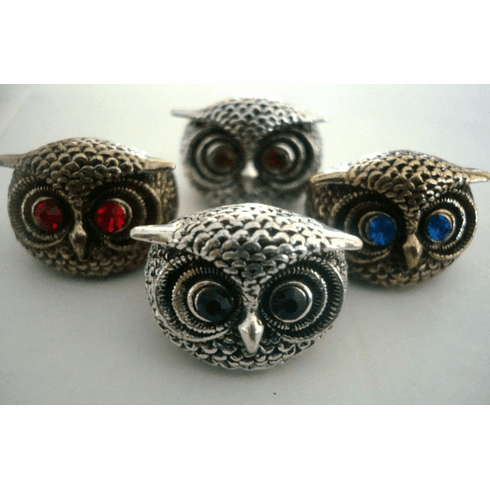Owl Face Ring - Comes in Silver or Gold tone
