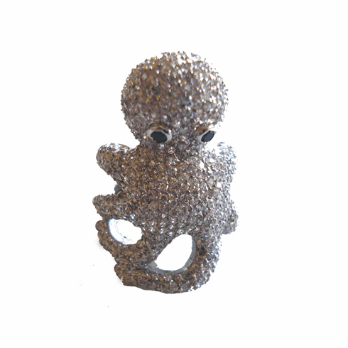 Pave Encrusted Octopus Ring
