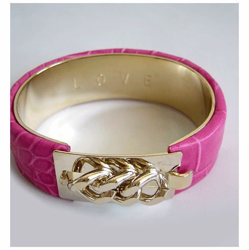 Pink Vita Style Cuff Bracelet (2 sizes, Thick or Thin Available)
