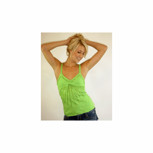 Rock Solid Green Sequined Starburst Cami