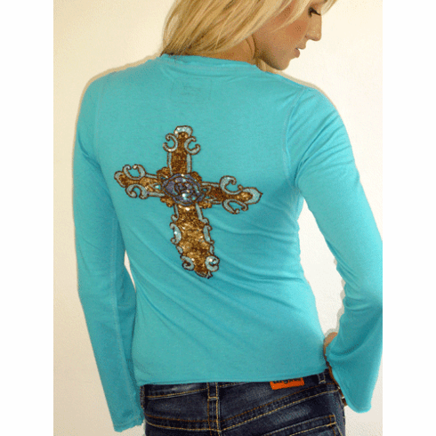 "Rock Solid Turquoise ""Forgiven"" Crew"