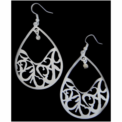 Satin Silver Promise Earrings