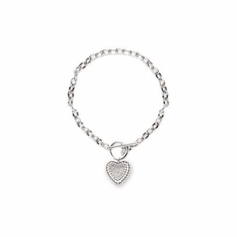 Tarina Tarantino Crystal AB Toggle Heart Necklace