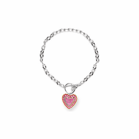 Tarina Tarantino Multi Color Crystal Heart Necklace