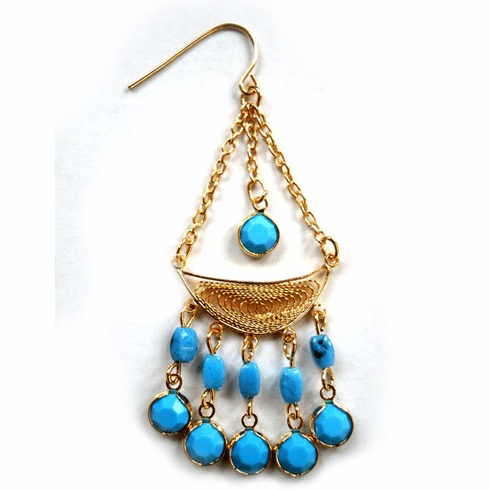 Turquoise Goddess Earrings