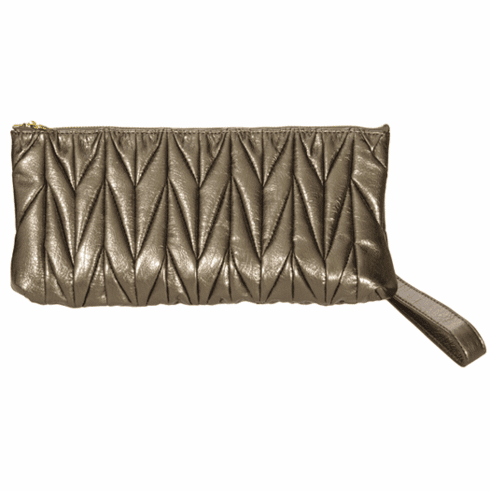 Urban Expressions Patent Clutch (Gray)