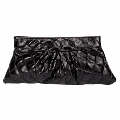 Urban Expressions Quilted Clutch (Black)