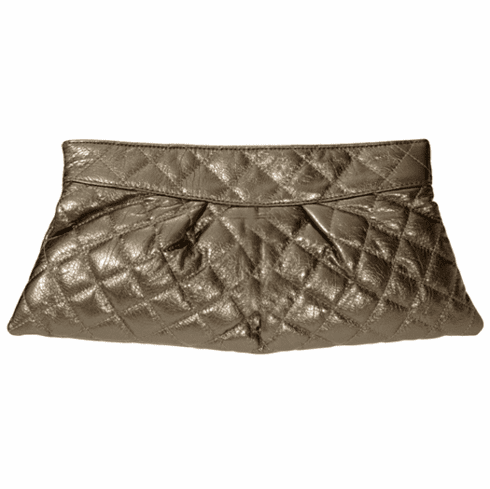 Urban Expressions Quilted Clutch (Gray)