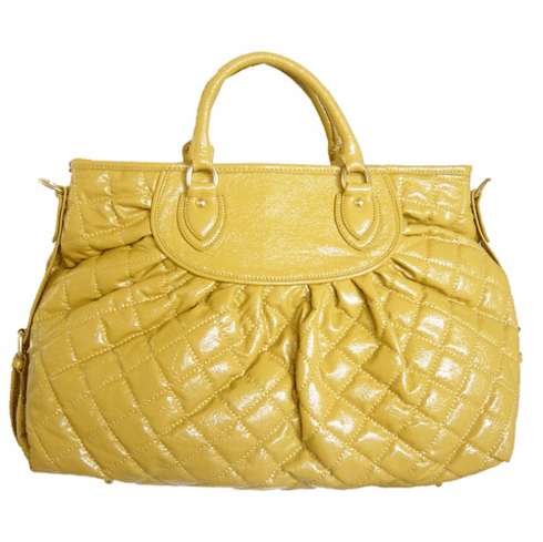 Urban Expressions Quilted Satchel (Yellow)