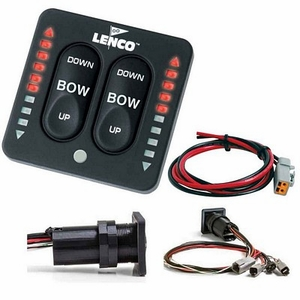 Lenco Trim Tab Switch with Led Indicator Kit 15170-001