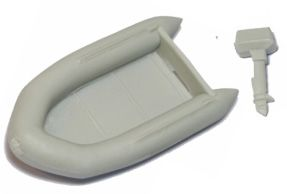 Inflatable LIfeboat w/ Outboard, 3-9/16""