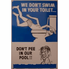 Don't Pee In Pool Sign