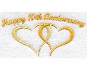 10th Anniversary Handkerchief Embroidery Design hank2