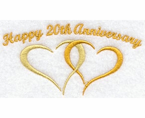 20th Anniversary Handkerchief Embroidery Design hank3