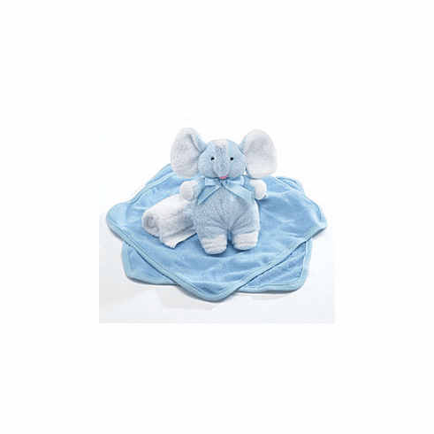 Baby Boy Gift Set Plush Rattle & Washcloths