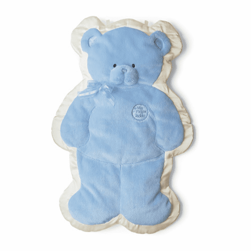Baby Gund Blue Teddy Cuddlehugs Soft Cuddly Infant Blanket or Friend