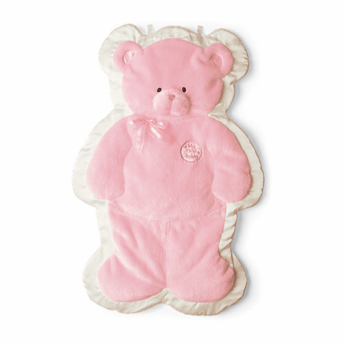 Baby Gund Pink Teddy Cuddlehugs Soft Cuddly Infant Blanket or Friend