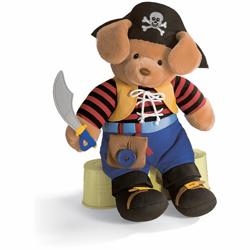 Baby Gund Teach Me Pirate Soft Baby Toys 59078