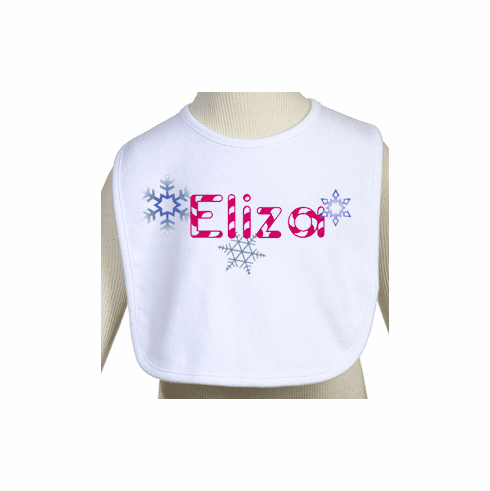 Baby's Name Little Girl's Personalized Holiday Bib