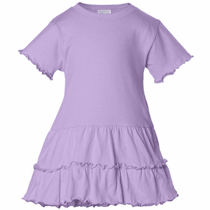 Baby & Toddler Sized Crew Neck Lavender Dress