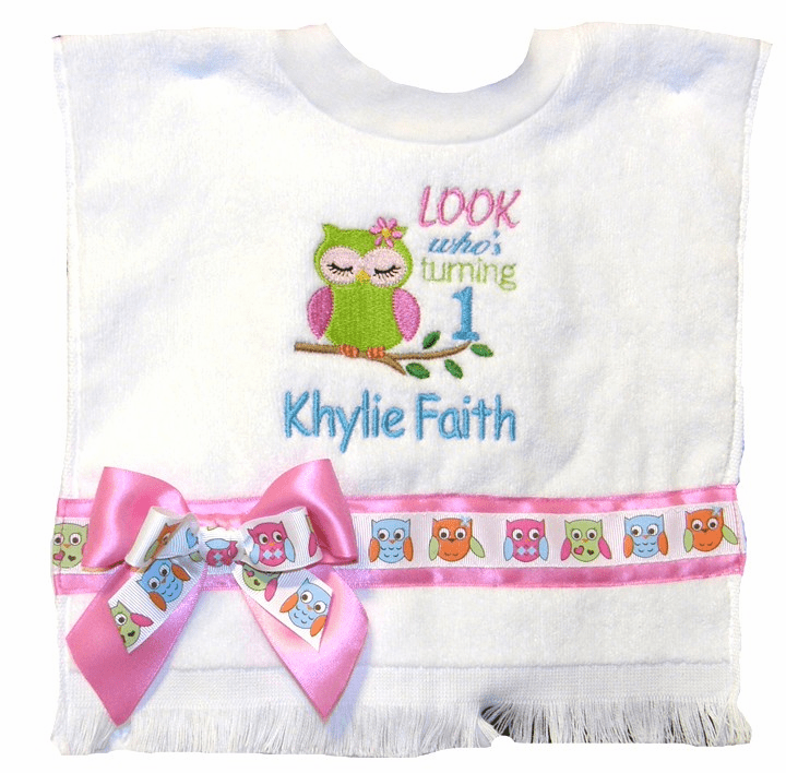 Custom Made Personalized Embroidered Bibs & Designer Bib Sets