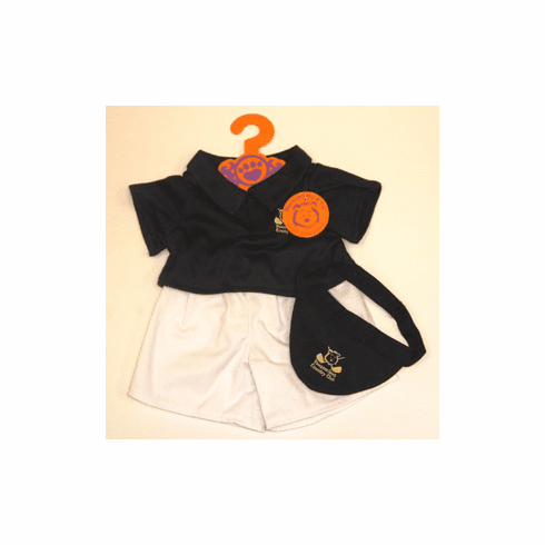 Black Golf Outfit Plush or Doll Clothing