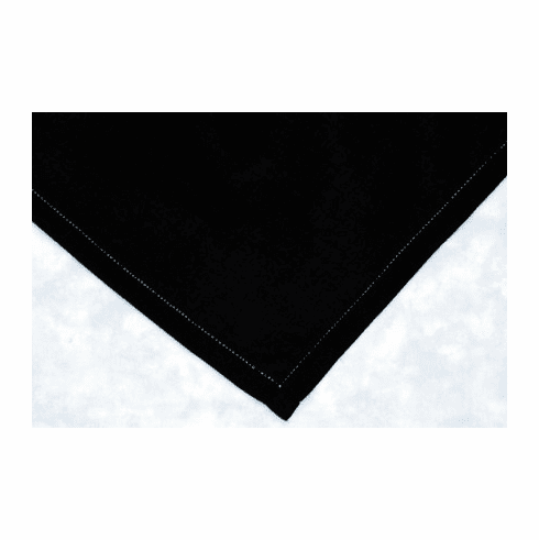 Black Hemstitched Handkerchief Ladies 12in x 12in  Personalize Me