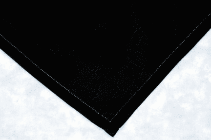 Black Hemstitched Handkerchief Men's 18in x 18in Personalize Me