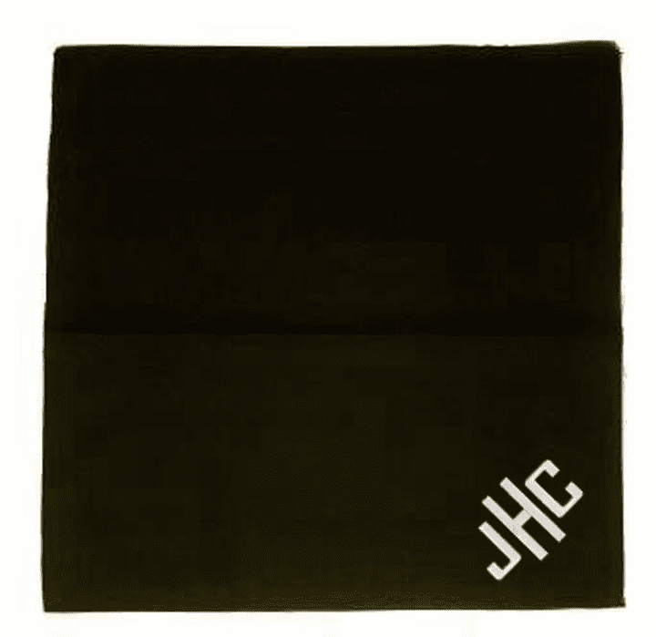 Black Ladies 100% Cotton Straight Edge Handkerchief