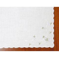Blue Floral Corner Embroidered Handkerchief Personalize me