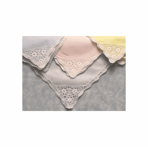 Bonnie Lace Handkerchiefs Blue, Yellow, Pink, White Personalize Me