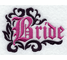 Bride Fancy Handkerchief Embroidery Design hank32