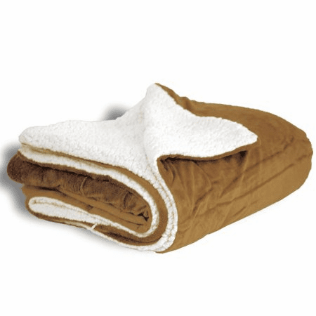 """Personalized Camel Micro Mink Sherpa Throw 50"""" x 60"""""""