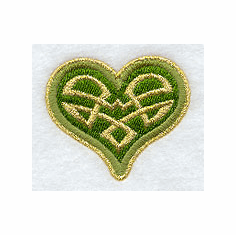 Celtic Heart Handkerchief Embroidery Design hank15