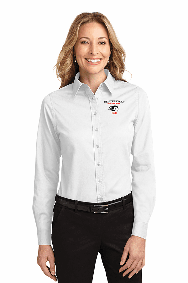 Centerville Ladies Long Sleeve Easy Care Button Up Shirt Four Colors