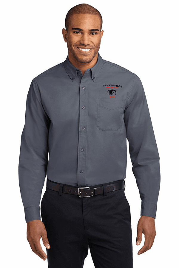 Centerville Long Sleeve Easy Care Button Up Shirt Four Colors