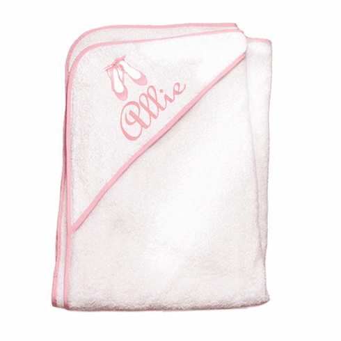 Child or Infant 100%Terry Cotton Hooded Towel (Ballet)