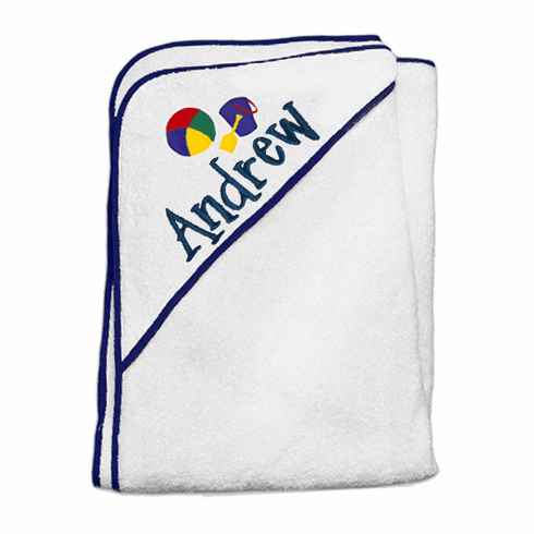 Child or Infant 100%Terry Cotton Hooded Towel (Blue Pail) Personalize Me