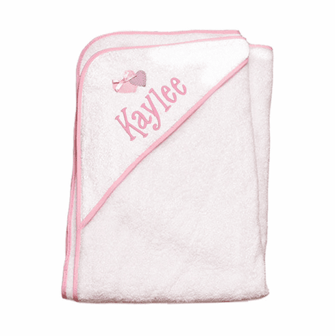 Child or Infant 100%Terry Cotton Hooded Towel (Hearts) Personalize Me