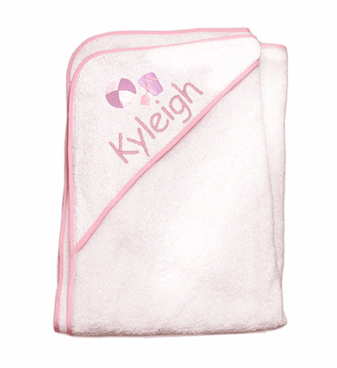 Child or Infant 100%Terry Cotton Hooded Towel (Purple Pail) Personalize Me
