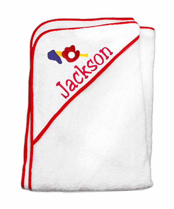 Child or Infant 100%Terry Cotton Hooded Towel (Sports) Personalize Me